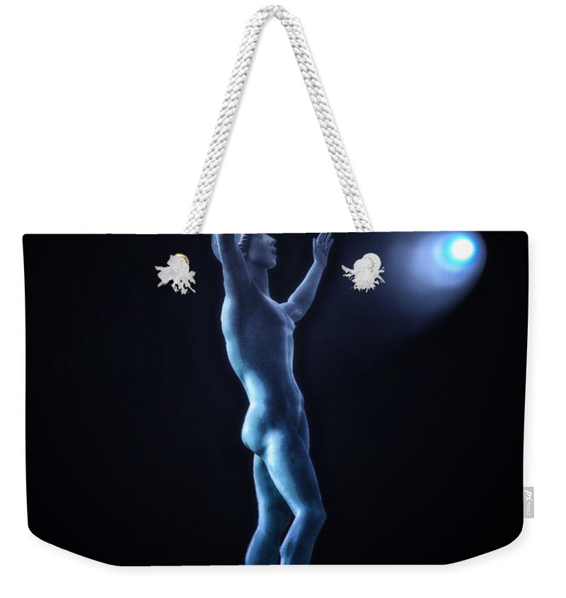 Surrealist Weekender Tote Bag featuring the photograph Midnight With The Comet Gazer by Thomas Woolworth