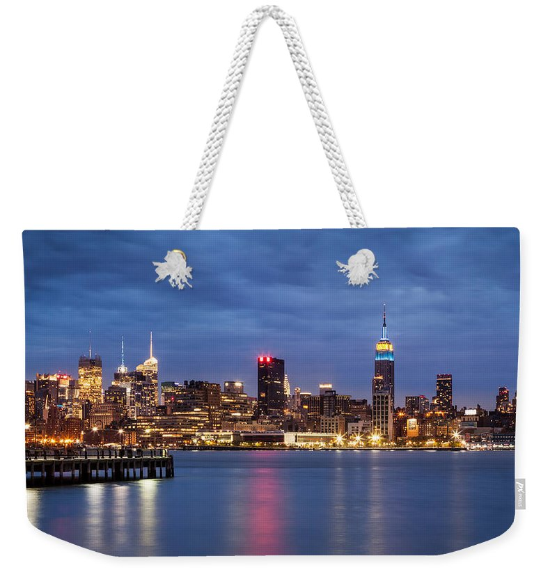 16:9 Weekender Tote Bag featuring the photograph Midtown Manhattan by Mihai Andritoiu