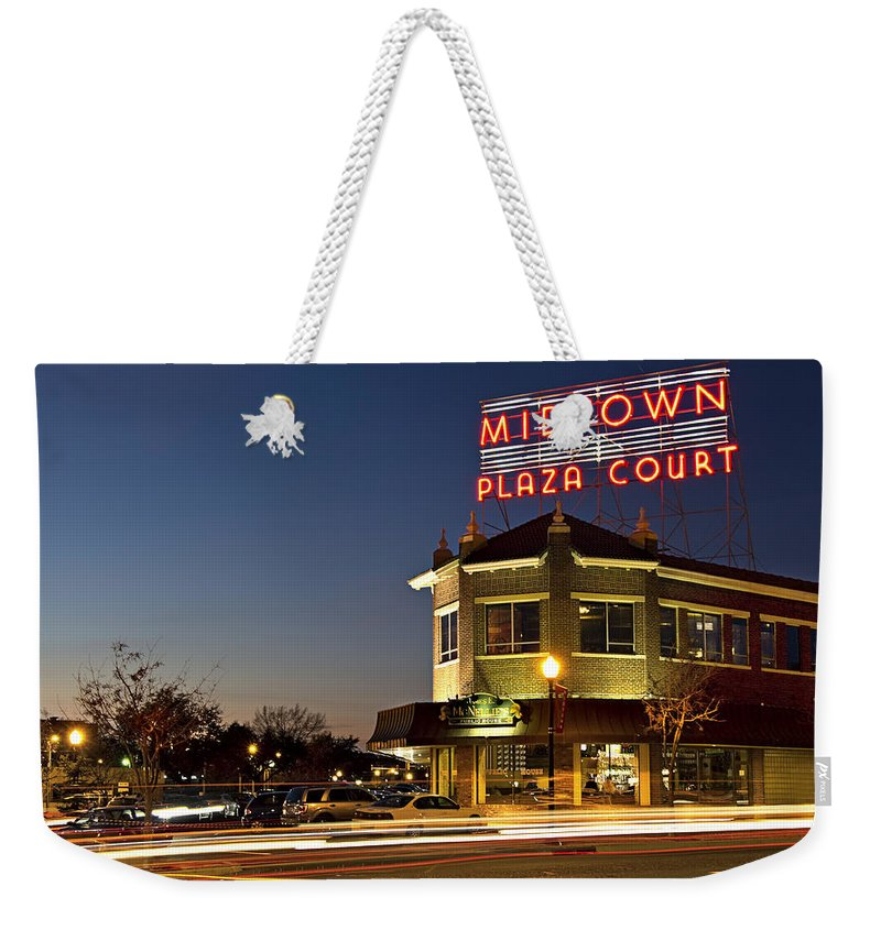 Midtown Weekender Tote Bag featuring the photograph Midtown Plaza 1 by Ricky Barnard