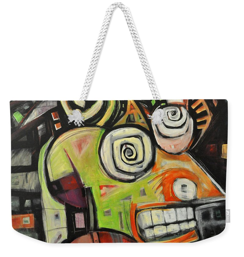 Migraine Weekender Tote Bag featuring the painting Migraine by Tim Nyberg