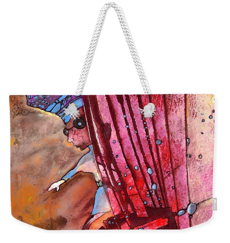 Mildew Weekender Tote Bag featuring the painting Mildew The Bookworm by Miki De Goodaboom