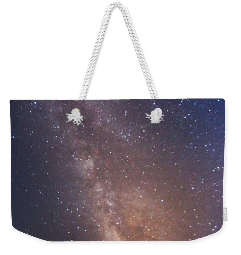 Majestic Weekender Tote Bag featuring the photograph Milky Way by Luca Libralato Photography