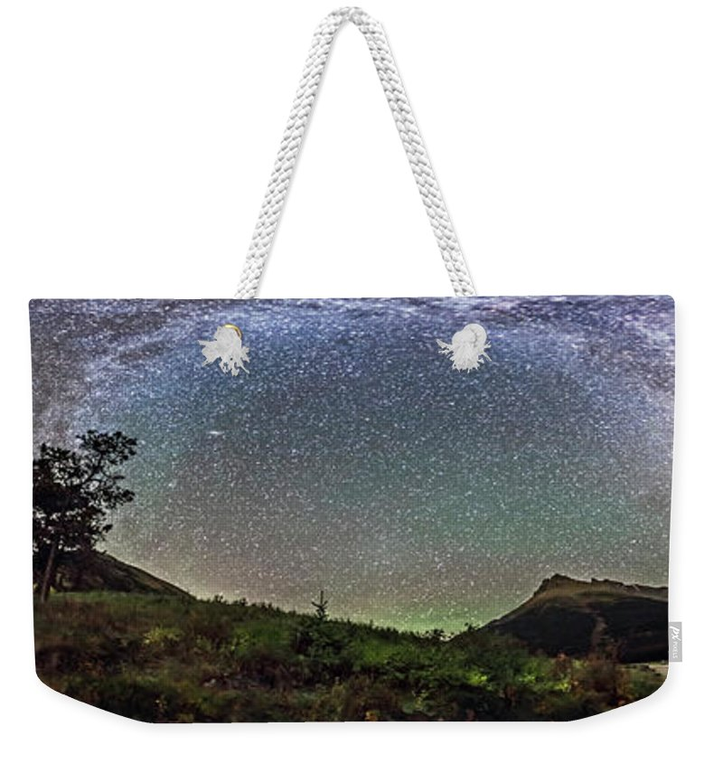 360� Weekender Tote Bag featuring the photograph Milky Way Over Red Rock Canyon by Alan Dyer