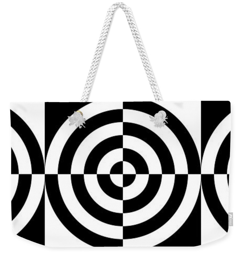 Abstract Weekender Tote Bag featuring the digital art Mind Games 3 Panoramic by Mike McGlothlen