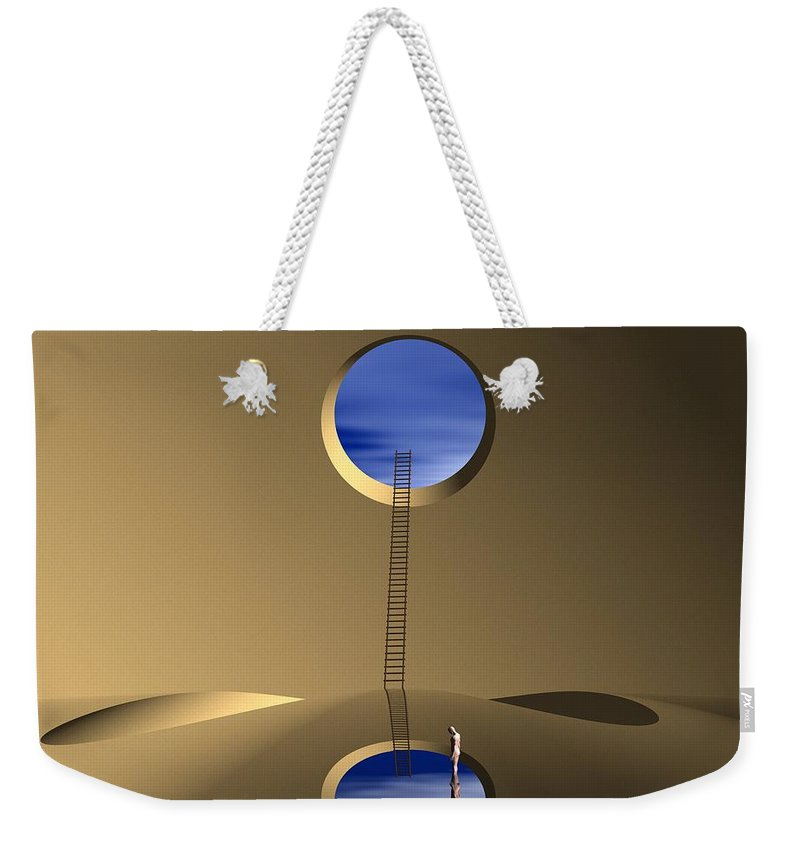 Mindwell Weekender Tote Bag featuring the digital art Mind Well by John Alexander