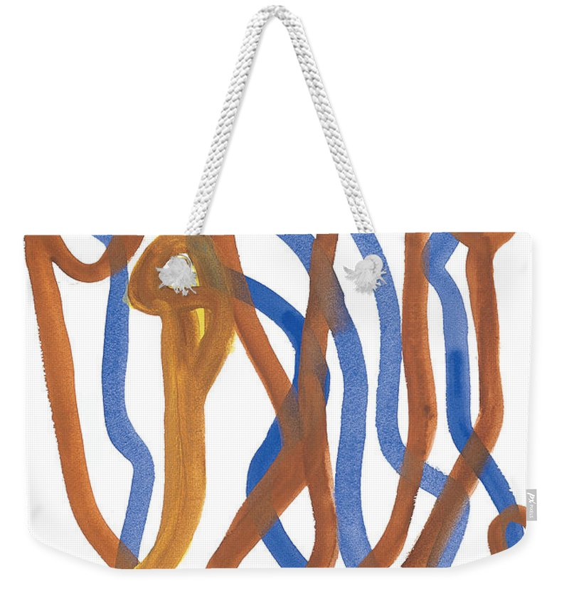 Abstract Weekender Tote Bag featuring the painting Mingle by Bjorn Sjogren