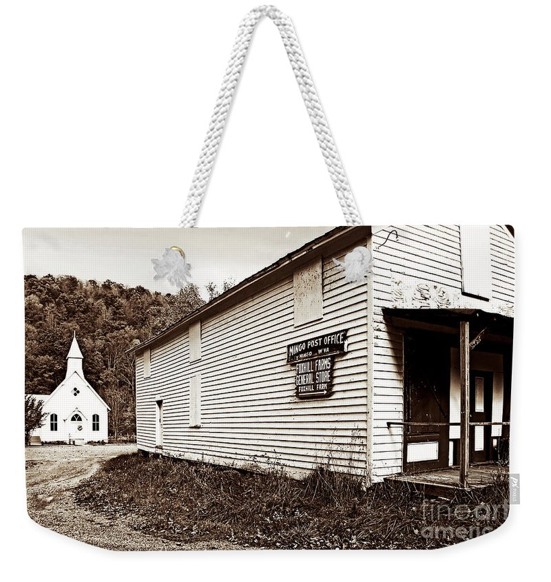 West Virginia Weekender Tote Bag featuring the photograph Mingo Post Office And Foxhill Farms General Store by Kathleen K Parker