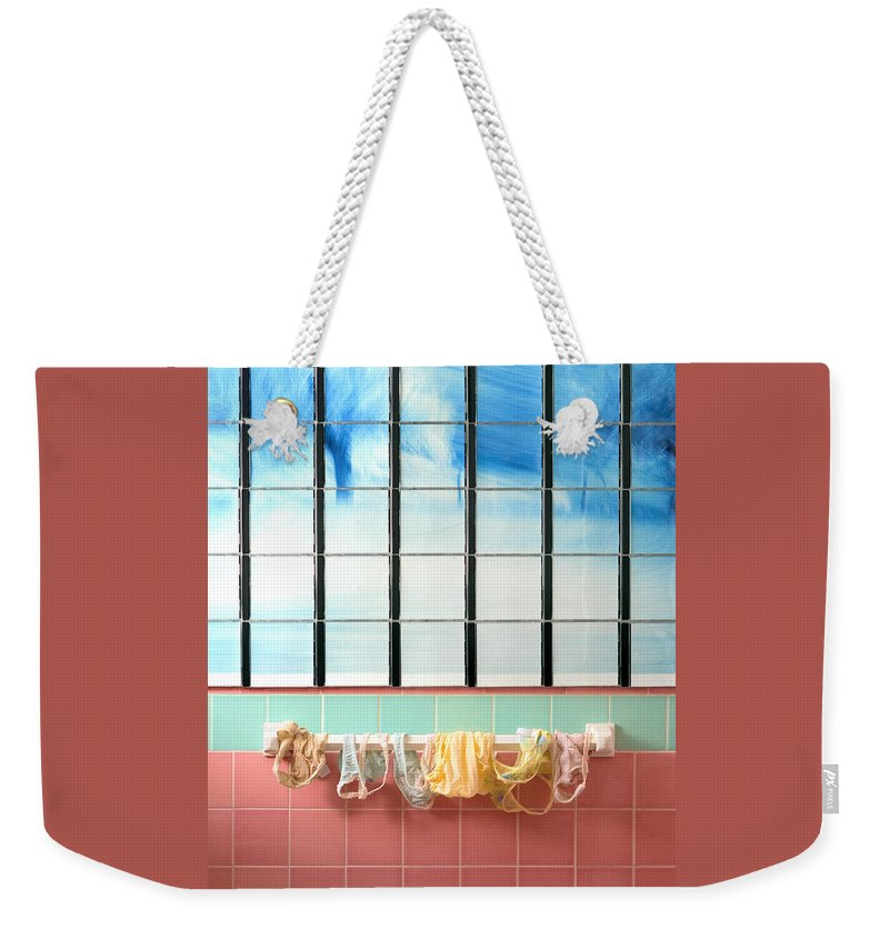 Laundry Weekender Tote Bag featuring the photograph Mini Laundry by Daniel Furon