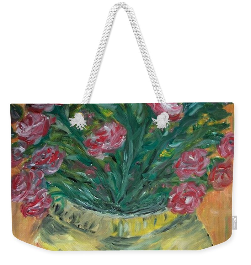 Roses Weekender Tote Bag featuring the painting Mini Roses by Teresa White
