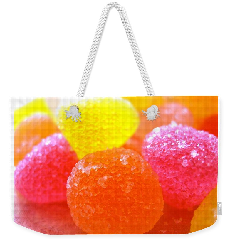 Sugar Fruit Prints Weekender Tote Bag featuring the photograph Mini Sugar Fruits by Monique's Fine Art