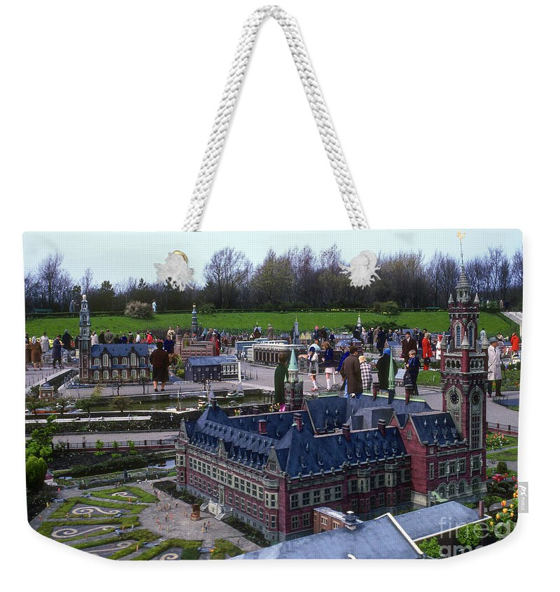 Madurodam Weekender Tote Bag featuring the photograph Miniature Friedenspalast by Bob Phillips
