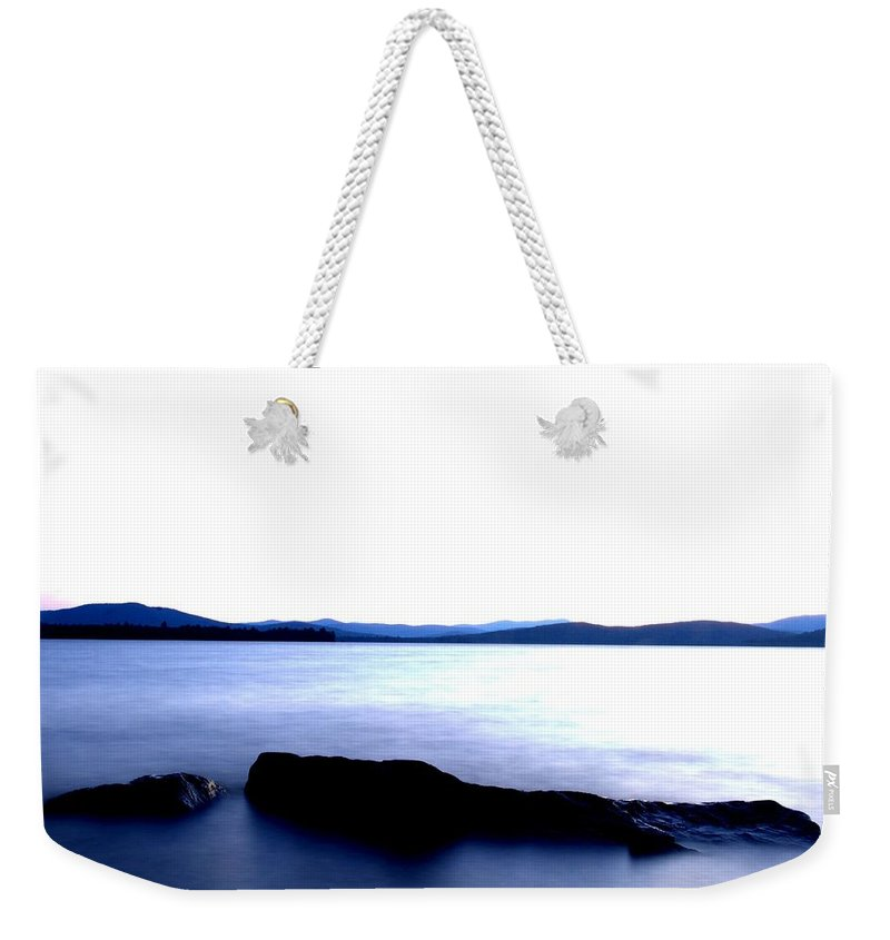 New Hampshire Weekender Tote Bag featuring the photograph Minimal Flow by Neal Eslinger