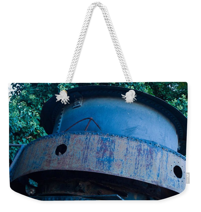 Mining Weekender Tote Bag featuring the photograph Mining Boiler by Douglas Barnett