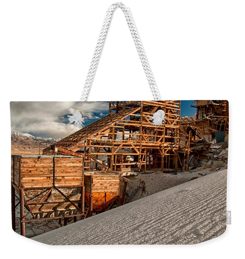 Mining Weekender Tote Bag featuring the photograph Mining Days by Cat Connor