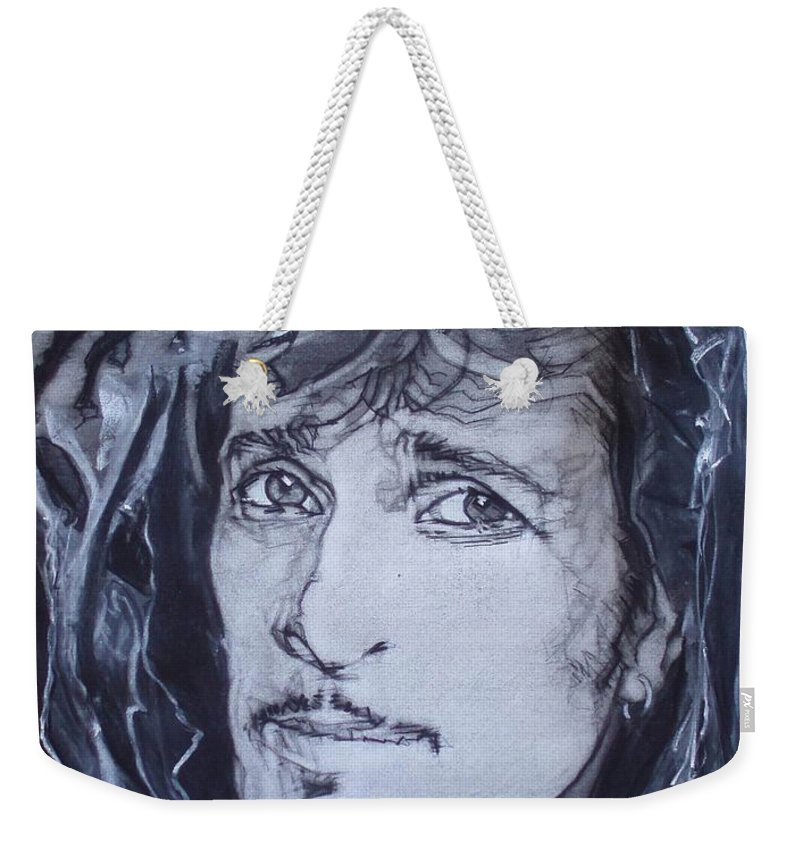 Charcoal;mink Deville;new York City;gina Lollabrigida Eyes ;cat Eyes;bullfight;toreador;swords;death;smoke;blues Weekender Tote Bag featuring the drawing Willy Deville - Coup De Grace by Sean Connolly