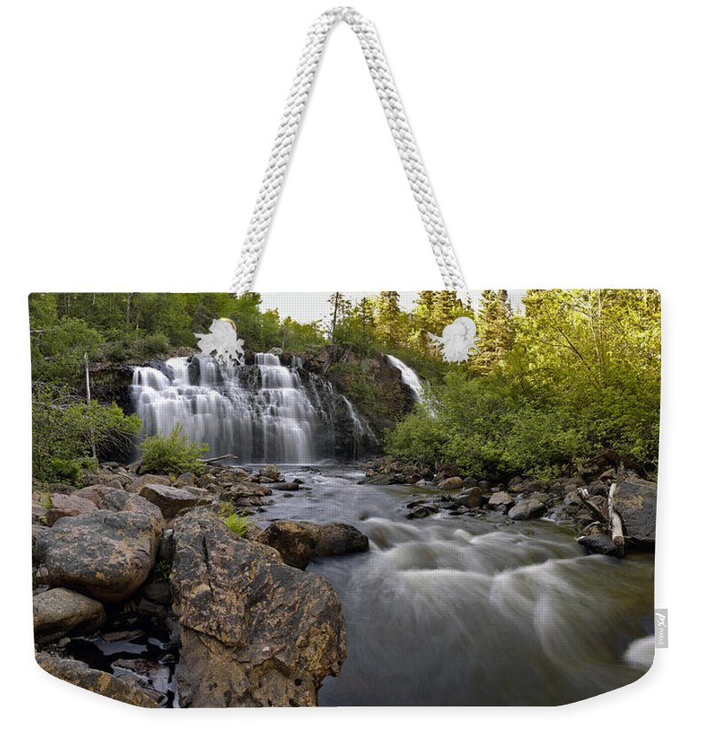 Panorama Weekender Tote Bag featuring the photograph Mink Falls by Doug Gibbons