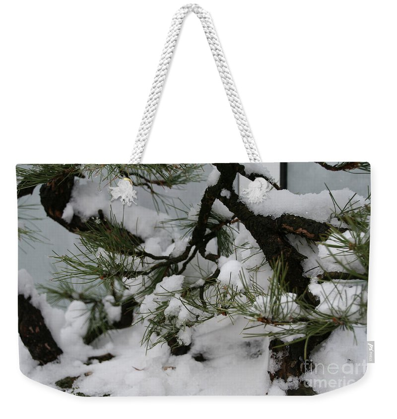 Snow Weekender Tote Bag featuring the photograph Minnesota Bonsai by Susan Herber