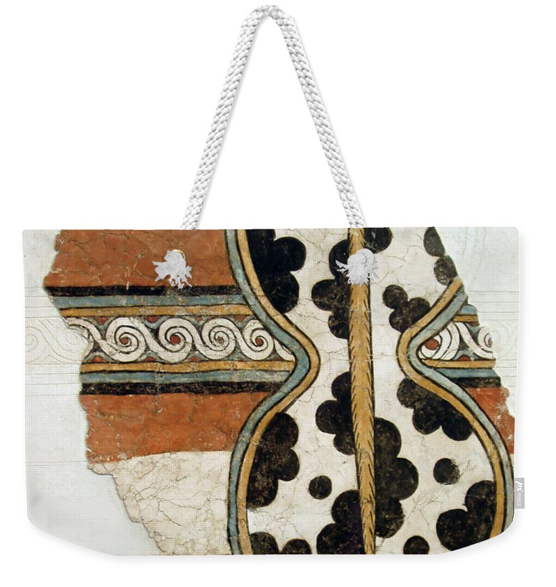Minoan Livestock Painting Weekender Tote Bag featuring the photograph Minoan Livestock Painting by Ellen Henneke