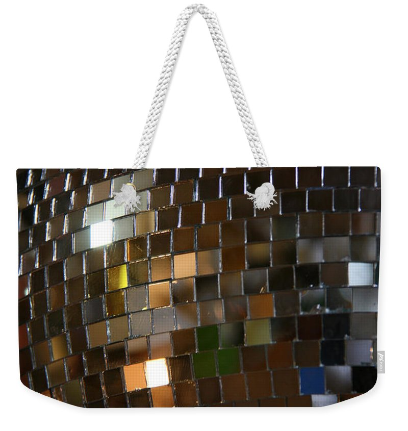 Hippo Hardware Weekender Tote Bag featuring the photograph Mirror Ball by Elizabeth Rose