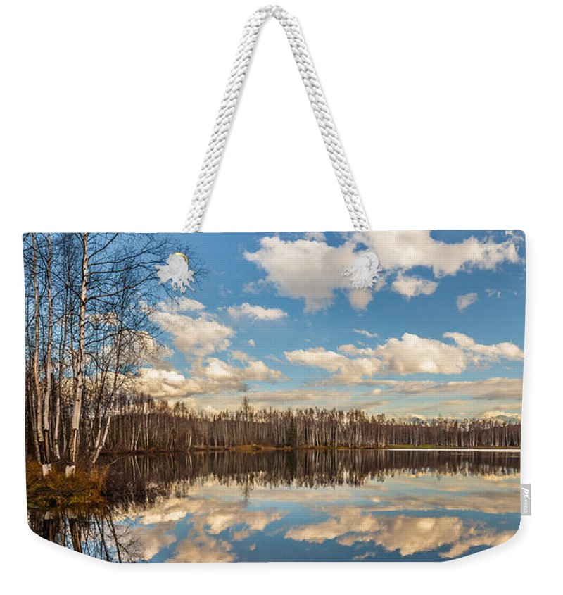 Mirror Lake Weekender Tote Bag featuring the photograph Mirror Lake by Wes and Dotty Weber