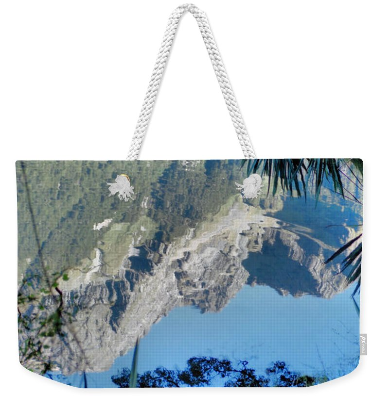 South Island Weekender Tote Bag featuring the photograph Mirror Lake Two New Zealand by Carole-Anne Fooks