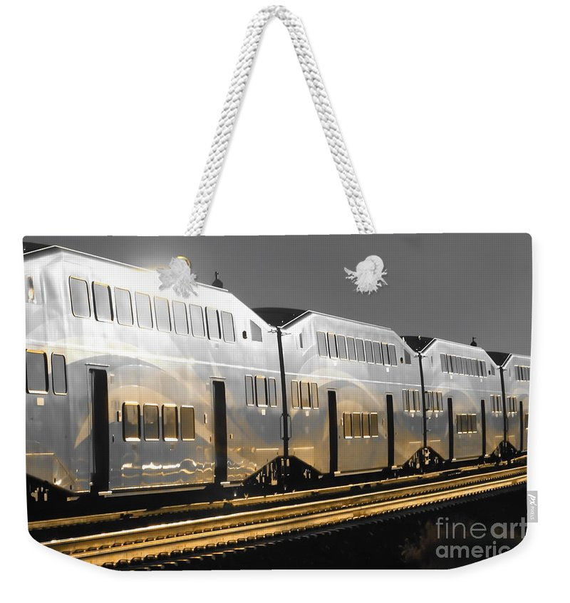 Digital Selective Color Photo Weekender Tote Bag featuring the digital art Mirror Of The Winter Sun by Tim Richards