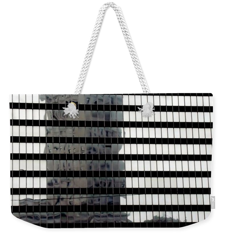 Cleveland Weekender Tote Bag featuring the photograph Mirrored Image by Wendy Gertz