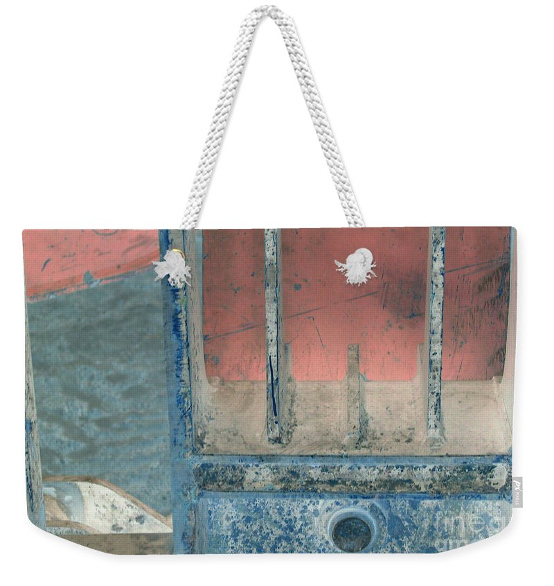 Equipment Weekender Tote Bag featuring the photograph Missing Middle Bar Right Horizontal by Heather Kirk