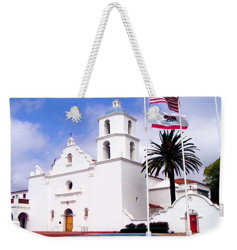 Mission Weekender Tote Bag featuring the photograph Mission San Luis Rey by Jerome Stumphauzer