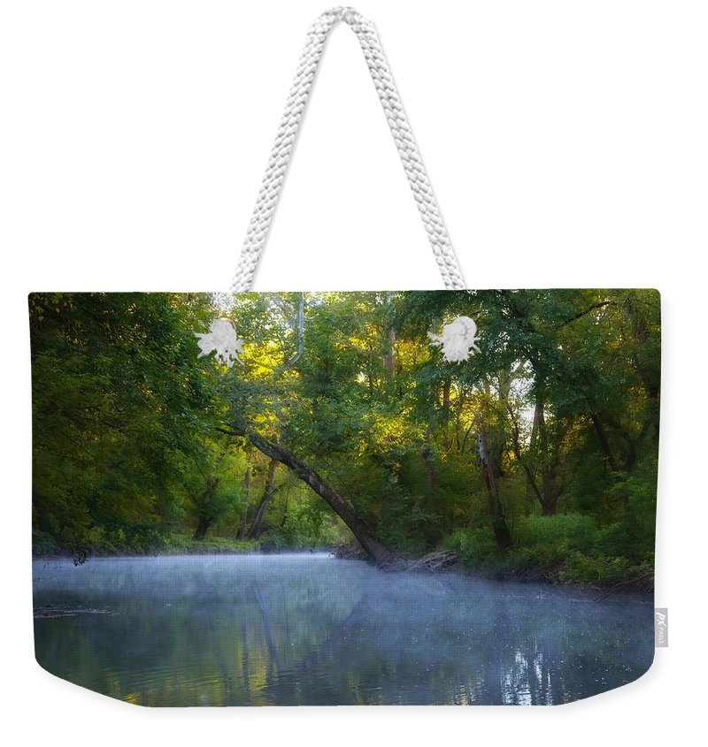 Mist Weekender Tote Bag featuring the photograph Mist On The Wissahickon by Bill Cannon