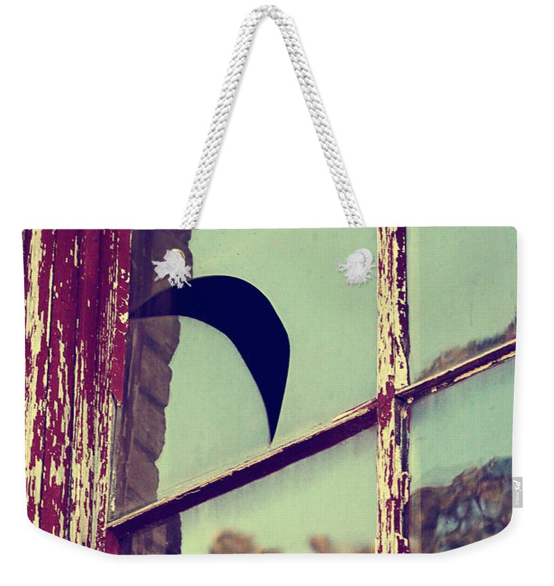 Weekender Tote Bag featuring the photograph Mister Moon by Trish Mistric