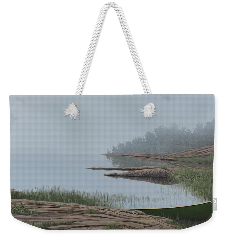 Landscapes Weekender Tote Bag featuring the painting Mistified by Kenneth M Kirsch