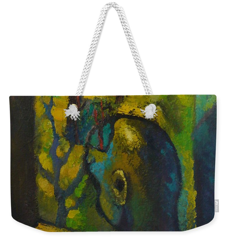 Room Weekender Tote Bag featuring the painting Mystic Room by Vigen Sayadyan