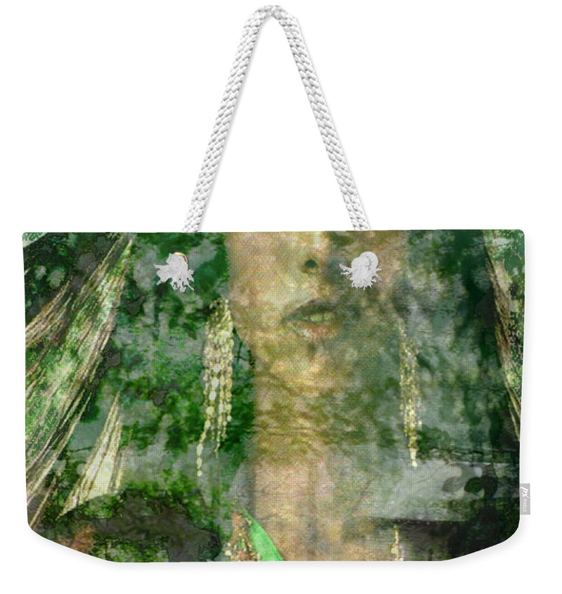 American Indian Weekender Tote Bag featuring the digital art Mistress Of The Wind by Seth Weaver