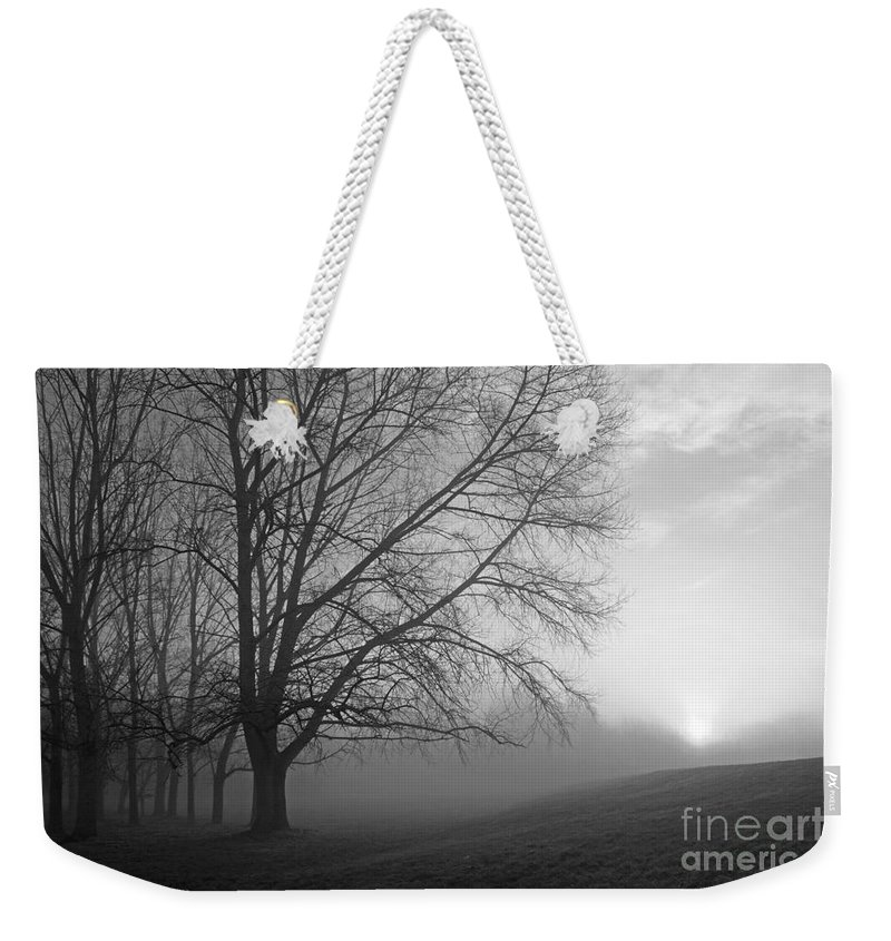 British Landscape Weekender Tote Bag featuring the photograph Misty Morning by Julia Gavin