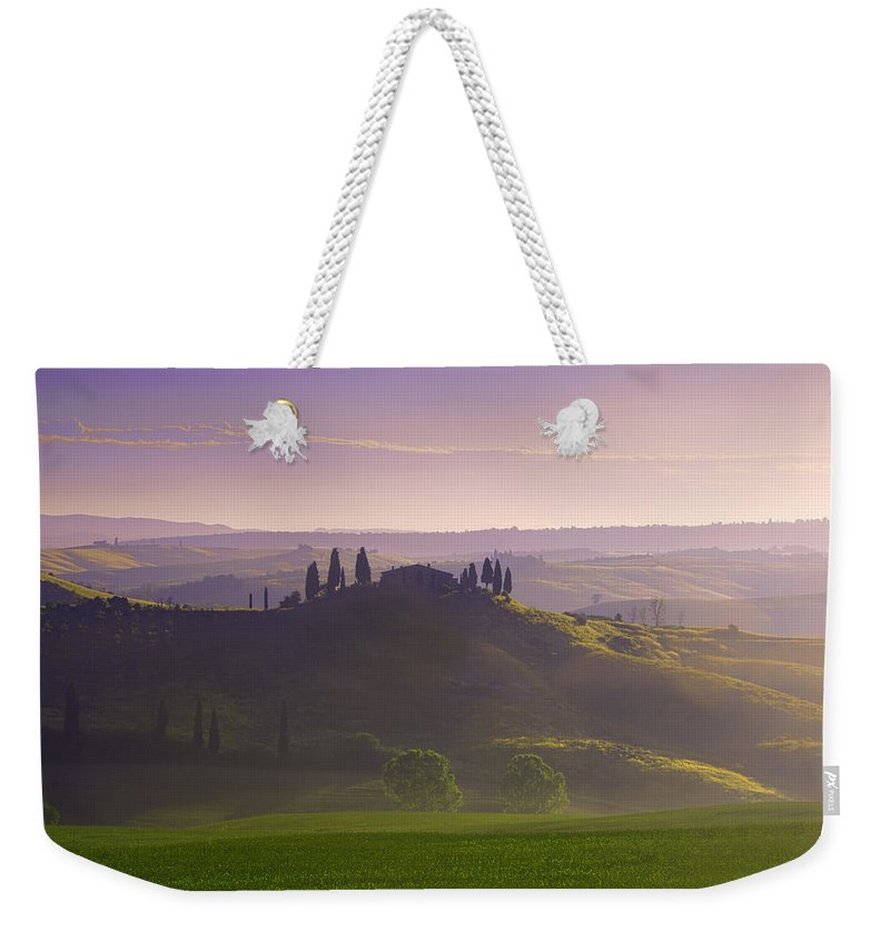 Tuscany Weekender Tote Bag featuring the photograph Misty Morning by Midori Chan