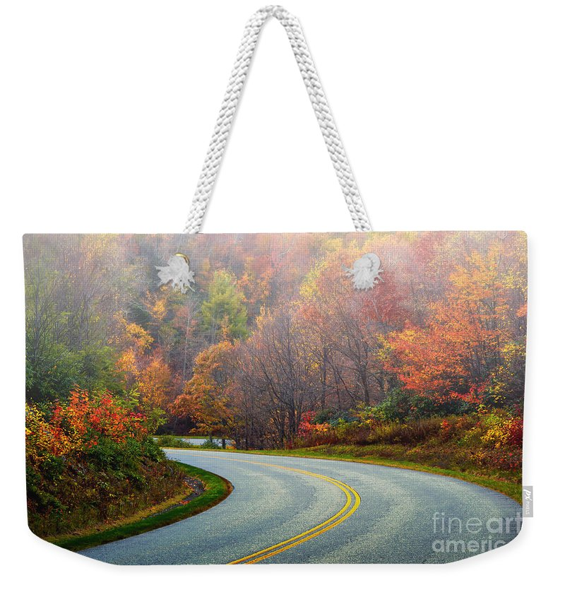 Mist Weekender Tote Bag featuring the photograph Misty Morning by Scott Hervieux