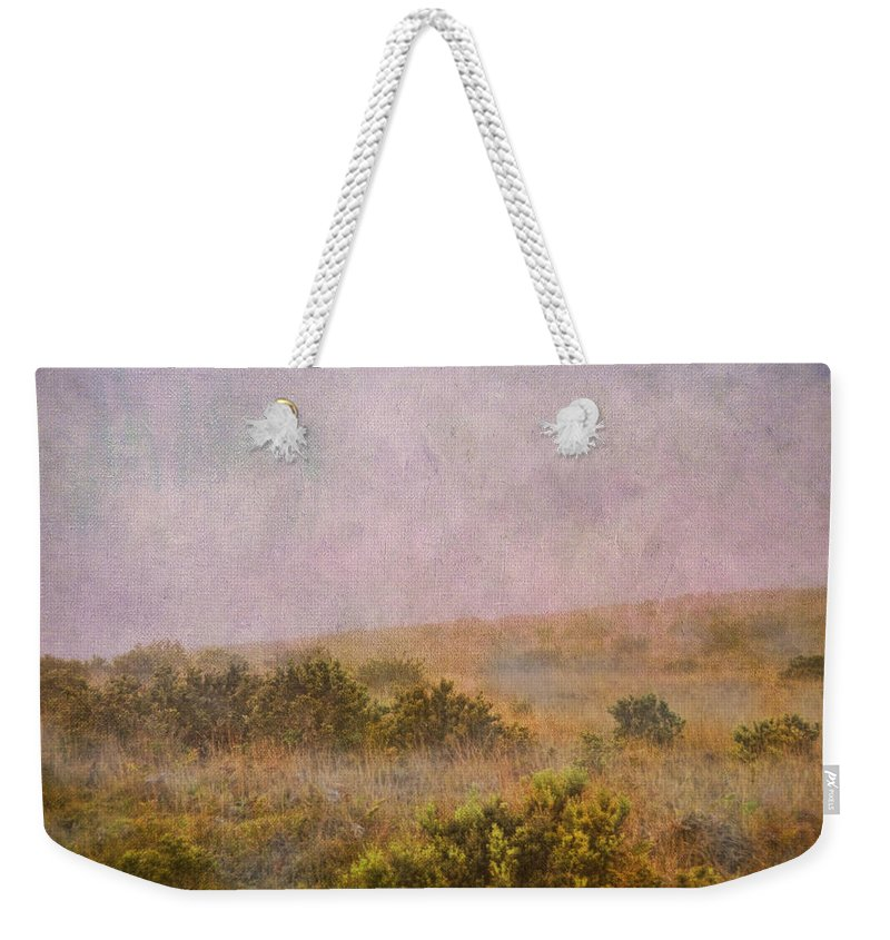 Wright Weekender Tote Bag featuring the photograph Misty Mountain by Paulette B Wright
