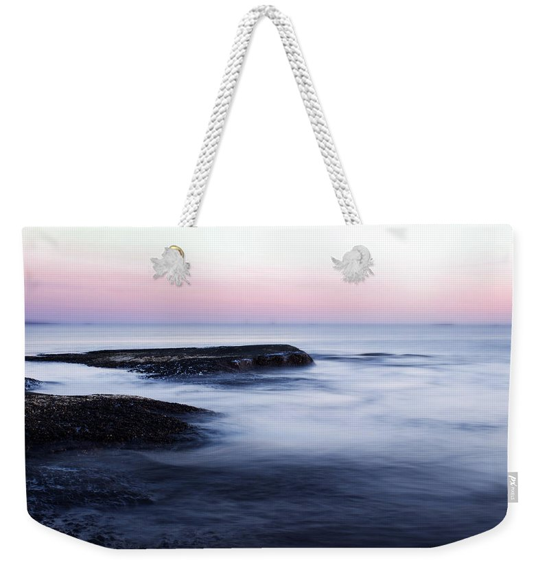 Landscape Weekender Tote Bag featuring the photograph Misty Sea by Nicklas Gustafsson
