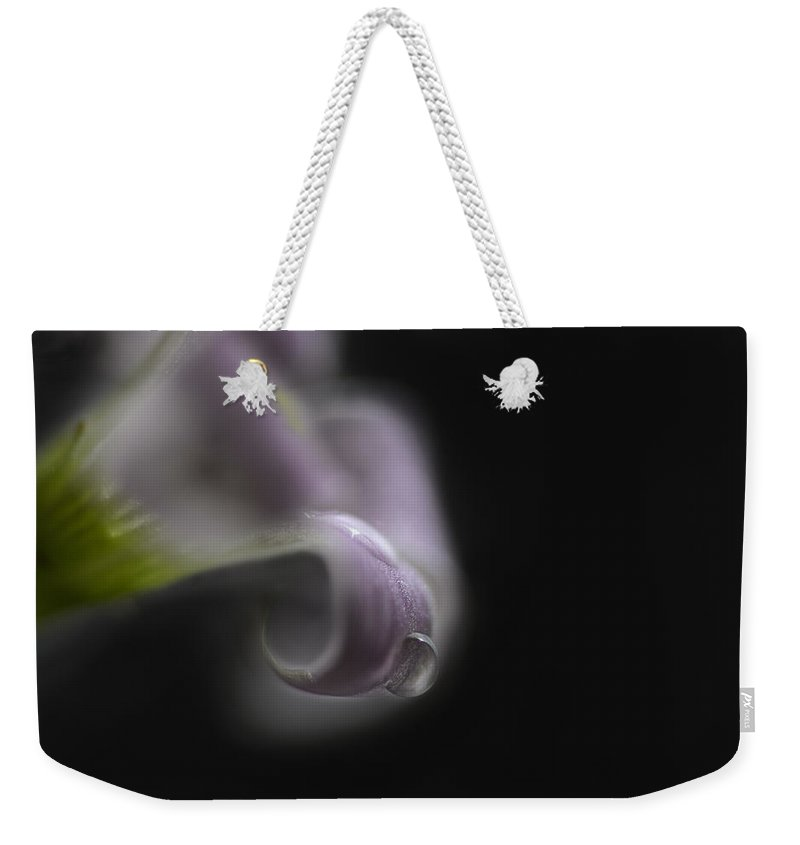 Water Drop Weekender Tote Bag featuring the photograph Misty Shamrock 1 by Susan Capuano