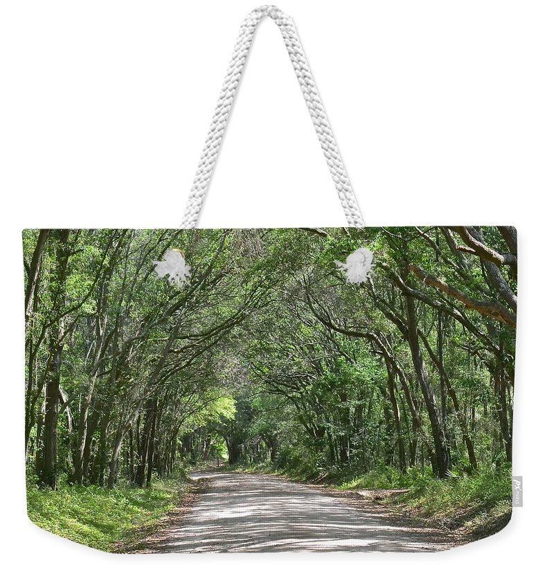 Road Weekender Tote Bag featuring the photograph Mitchelville by Carol Bradley