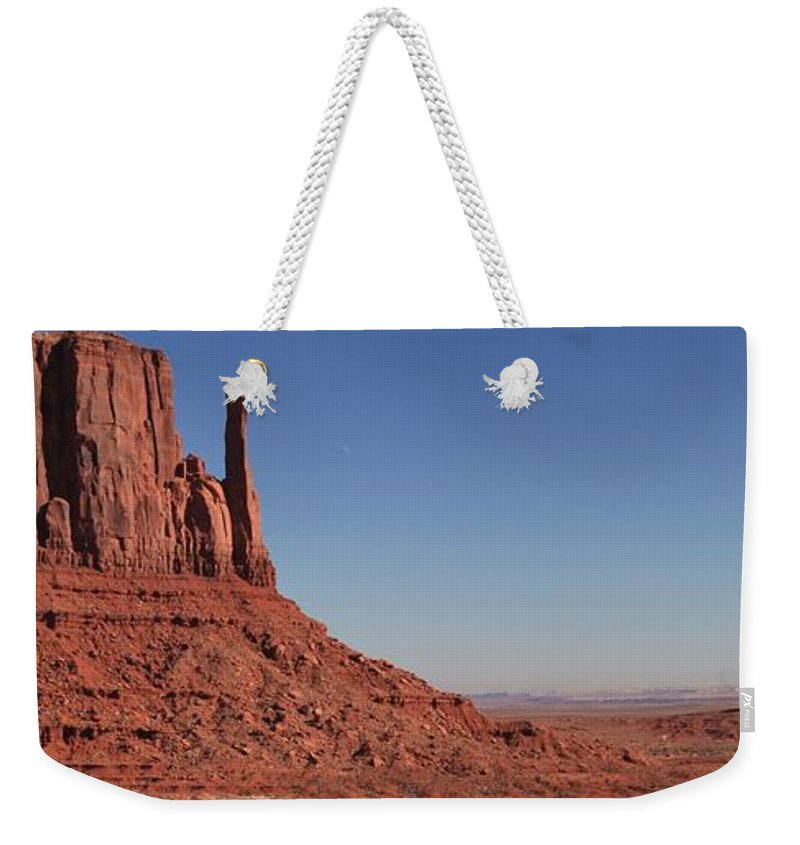 Monument Valley Weekender Tote Bag featuring the photograph Mittens Landscape by Adam Jewell
