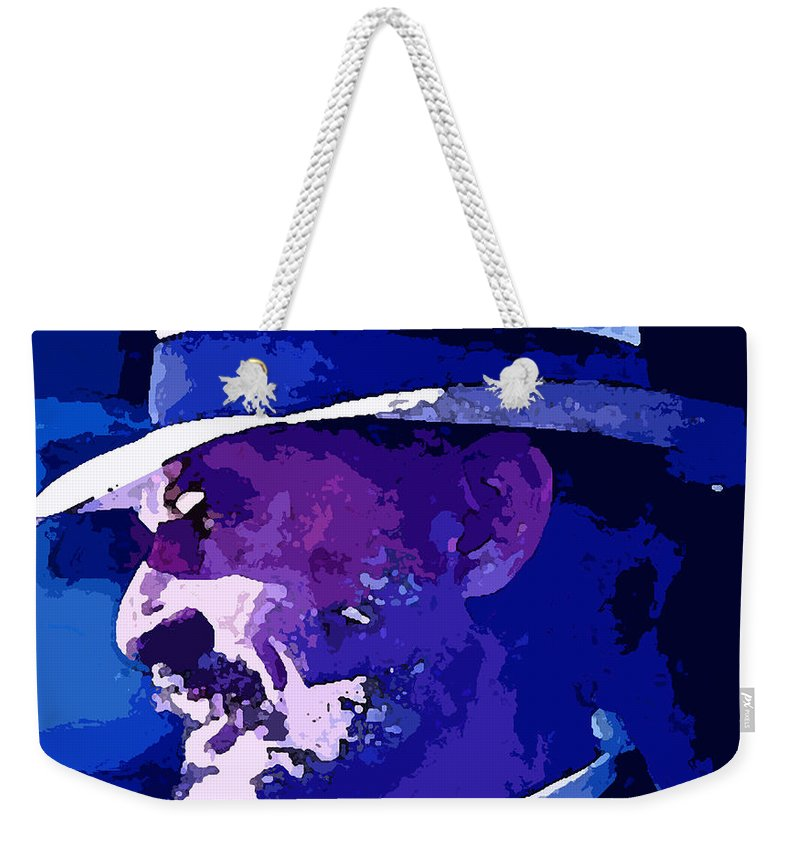 Mojo Weekender Tote Bag featuring the painting Mojo by George Pedro