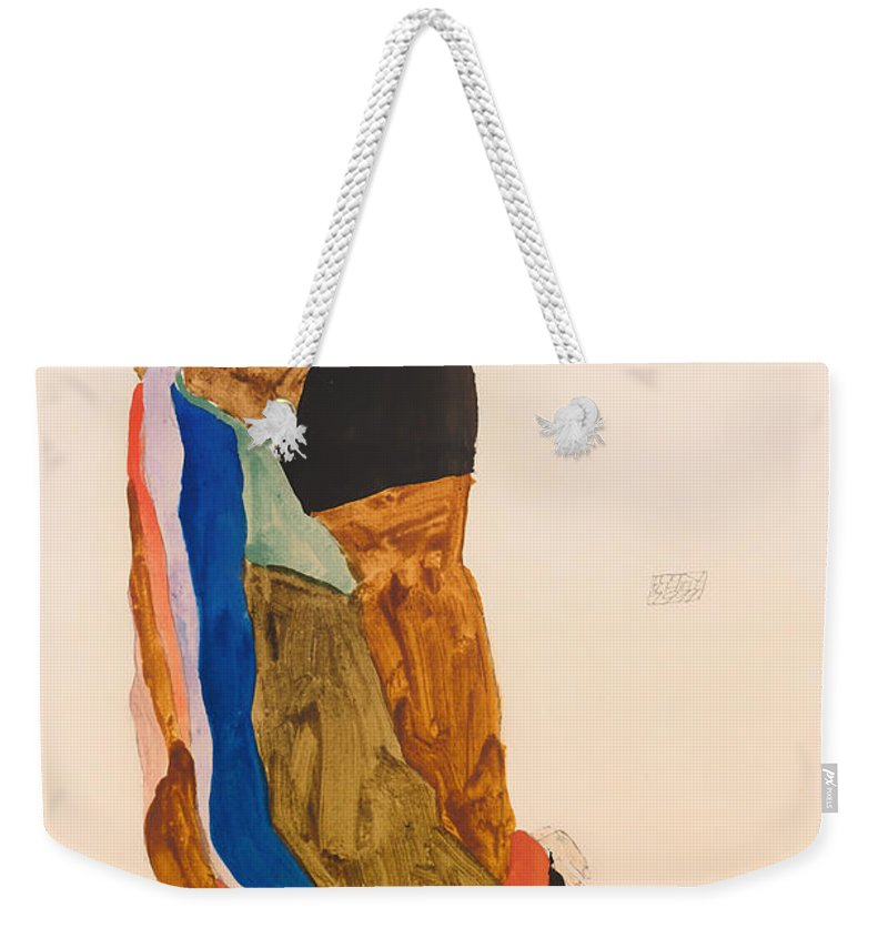 Painting Weekender Tote Bag featuring the painting Moa by Mountain Dreams