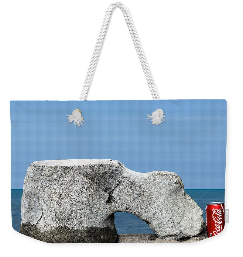 Whale Weekender Tote Bag featuring the photograph Moby by Barbara McMahon
