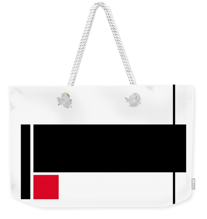 Modern Weekender Tote Bag featuring the painting Moda 2 - Modern Art By Sharon Cummings by Sharon Cummings