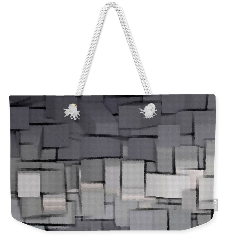 Abstract Weekender Tote Bag featuring the digital art Modern Abstract Art Xx by Lourry Legarde