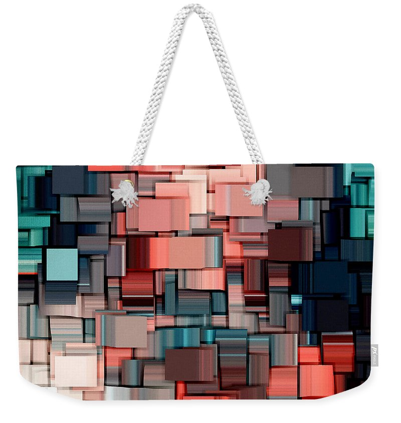 Abstract Weekender Tote Bag featuring the digital art Modern Abstract Ix by Lourry Legarde
