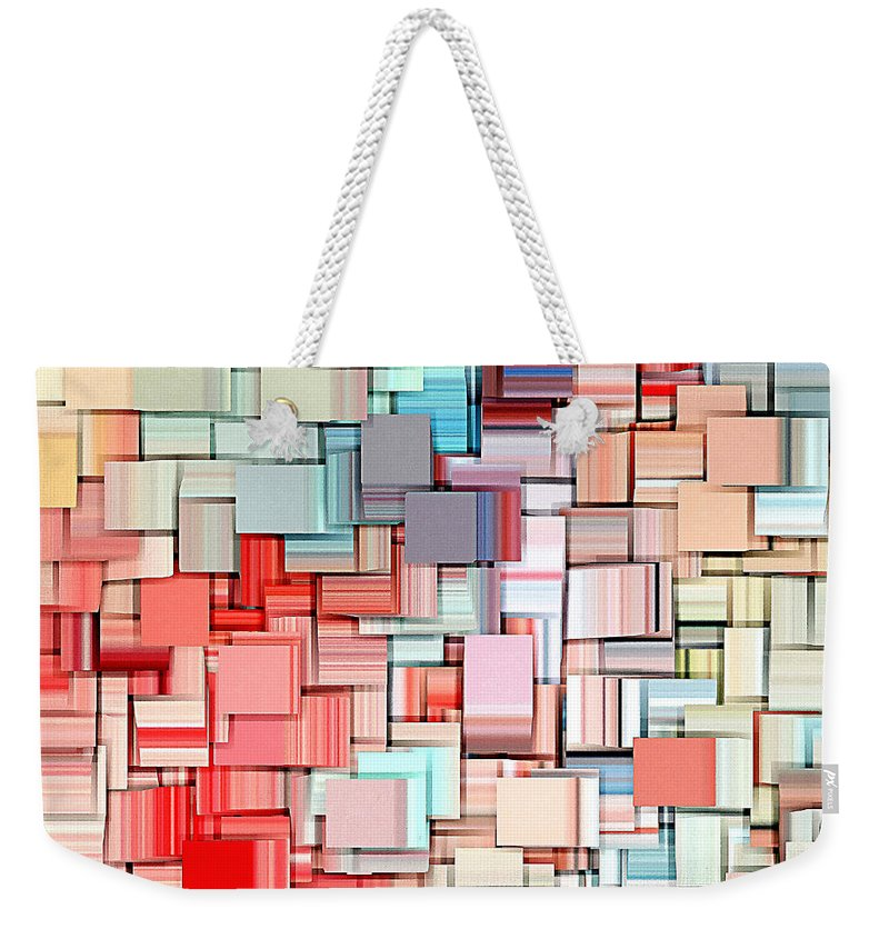 Abstract Weekender Tote Bag featuring the digital art Modern Abstract X by Lourry Legarde