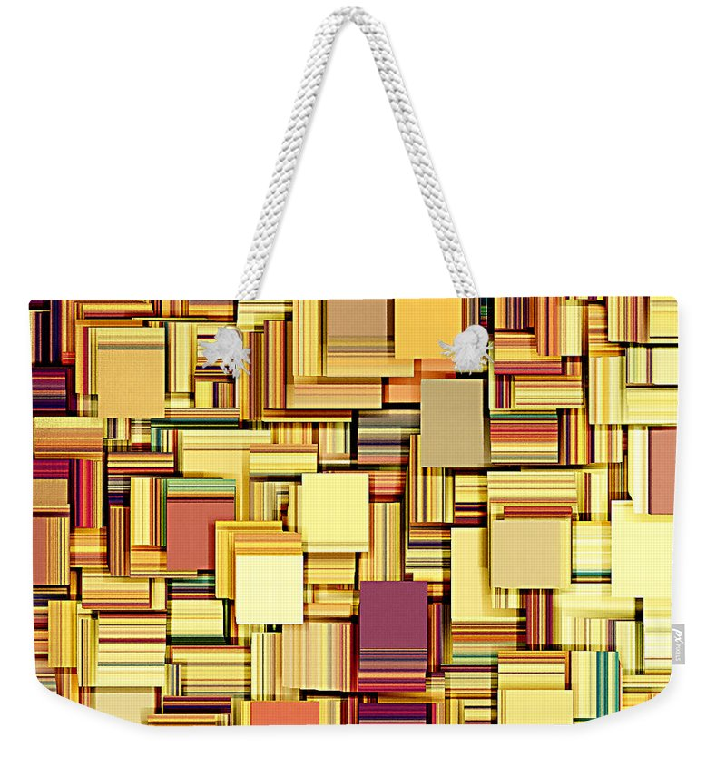 Abstract Weekender Tote Bag featuring the digital art Modern Abstract Xxi by Lourry Legarde